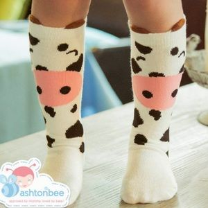 Other - Adorable baby cow knee high socks